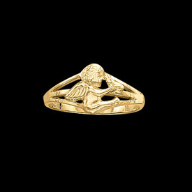 Specialty Items Gold Cherub Ring