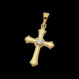 Diamond Cross Cross Pendant with Diamond