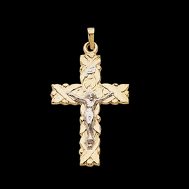 Gold Two Tone Crucifix