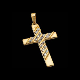 Pretty Diamond Cross Pendant