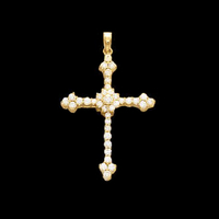 Large Diamond Cross Pendant