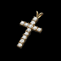 Large Diamonds Cross Pendant