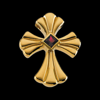 Gold Ruby Flair Cross