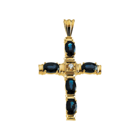 Diamond Cross Sapphire Diamond Cross