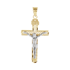 Lattice Two Tone Crucifix