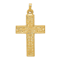 Polished Filigree Cross Pendant