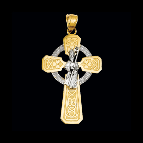 Saint Patrick Cross Pendant Gracious Rose Jewelry