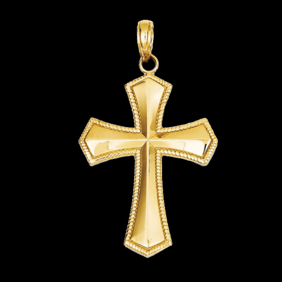 Beautiful Fleur De Lis Cross Pendant Gracious Rose