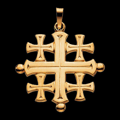 Jerusalem Cross Pendant Religious Piece By Gracious Rose