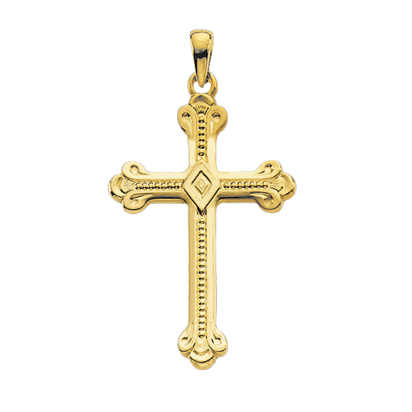 14k Budded Cross Pendant Intricate Styles At Gracious Rose
