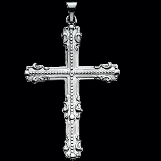 Large Platinum Cross