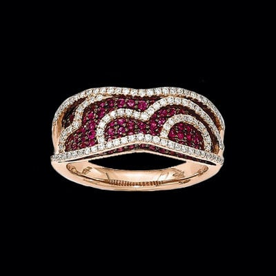 Rose Gold Ruby Ring