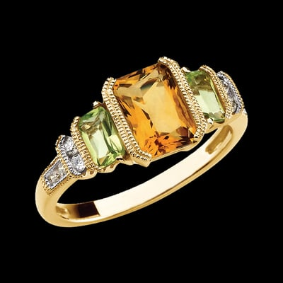 ring round unique shop accent cut diamond rings prev engagement citrine band