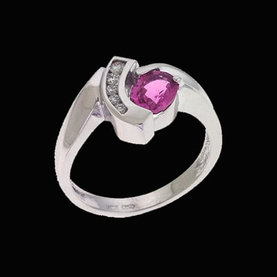 Contemporary Pink Sapphire Ring
