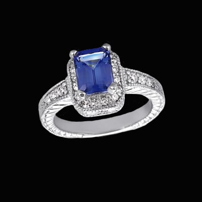 Designer Tanzanite Diamond Ring