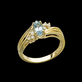 Aquamarine Rings Aquamarine Diamond Ring