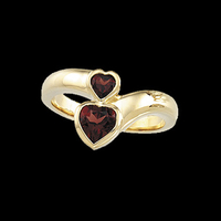 Double Heart Design Ring