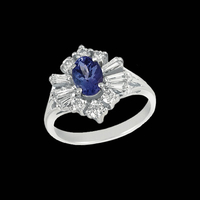 Fancy Diamond Tanzanite Ring