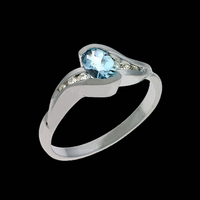 Aquamarine Rings Aquamarine Pass Design Ring
