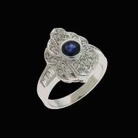Sapphire Rings Antique Design Sapphire Ring
