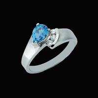 Blue Topaz Rings Blue Topaz Diamond Ring
