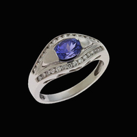 Tanzanite Rings Oval Tanzanite Diamond Ring