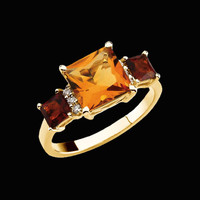 Multicolor Citrine Gold Ring