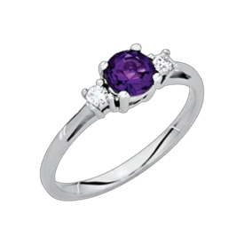 Amethyst Rings Amethyst Diamond Accent Ring