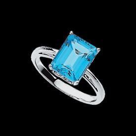 Vibrant Swiss Blue Topaz Ring