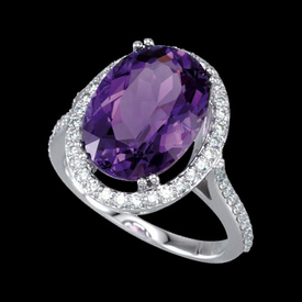 Virbrant Amethyst & Diamond Ring
