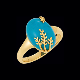 Lovely Turquoise Gold Ring