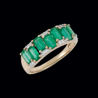 Emerald Gold & Diamond Ring