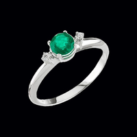 White Gold Emerald Ring