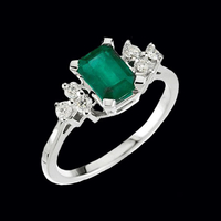 Brilliant Emerald & Diamond Ring