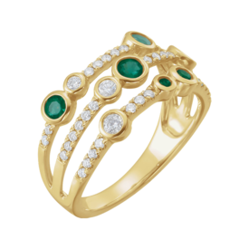 Emerald Rings Diamond & Emerald Ring