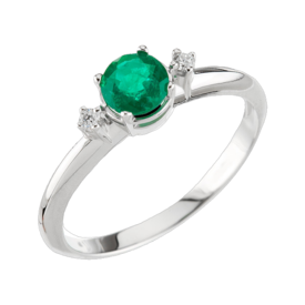 Emerald Rings White Gold Emerald Ring