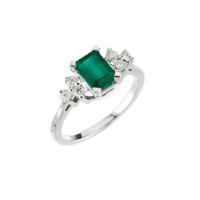 Emerald Rings Brilliant Emerald & Diamond Ring