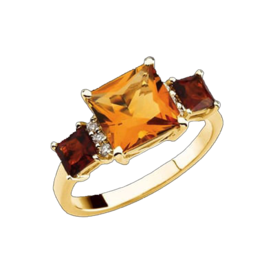 Citrine Rings Multicolor Citrine Gold Ring