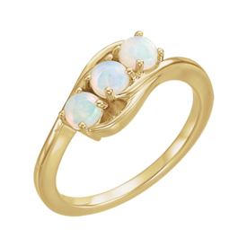 Beautiful 3 Stone Opal Ring