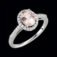 14kt Gold Morganite and Diamond Ring
