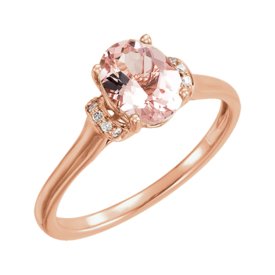 Other Gemstone Ring Rose Gold Morganite Ring
