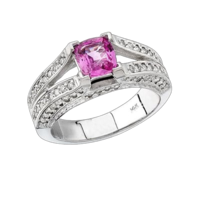 Sapphire Rings White Gold Pink Sapphire Ring
