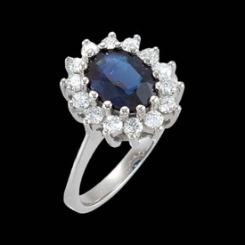 Royal Inspired Sapphire Diamond Ring