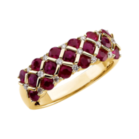 Ruby Rings Ruby Diamond Weave Ring