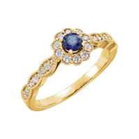 Sapphire Rings Sapphire Diamond and Gold Ring