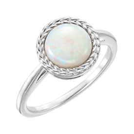 Opal Rings Wheat Border Opal Ring