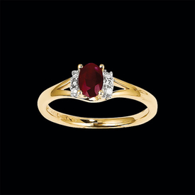 Traditional Ruby Diamond Accent Ring