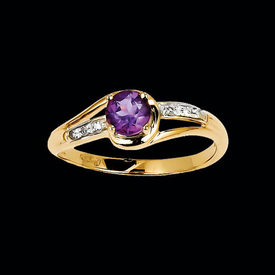 Pretty Amethyst Pass Design Ring
