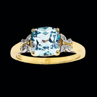 Blue Topaz Butterfly Ring