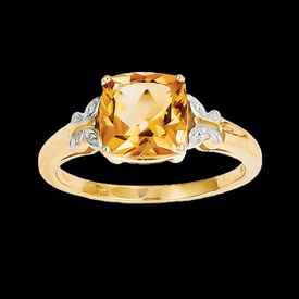Citrine Butterfly Ring